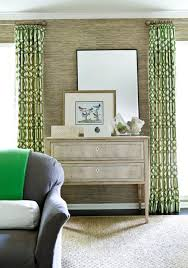 Green Trellis Rug Trellis Curtains Contemporary Living Room Melanie Turner