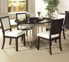 dark brown round kitchen table dining room interesting dark brown round table with metal cross