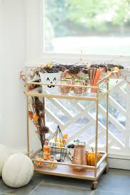 Decor For Halloween Decorate Your Bar Cart For Halloween Fashionable Hostess