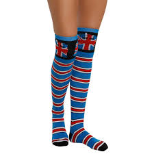 doctor who union tardis striped the knee socks