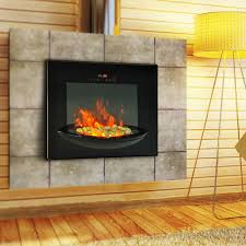 homcom 1500w wall mounted electric fireplace touch screen multi