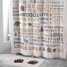 Cabin Shower Curtains Lodge Shower Curtains Accessories Bathroom Bed Bath Kohl S