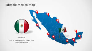 Mexico Map by Editable Mexico Map Template For Powerpoint Slidemodel