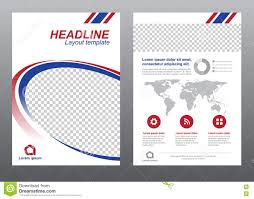 layout flyer template size a4 cover page blue and red modern