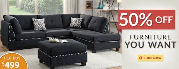 Black Sofa Bed by Steal A Sofa Furniture Outlet In Los Angeles Ca
