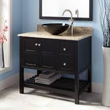 36 vessel sink vanity bathroom sinks everett fresh 36 everett vessel sink vanity black