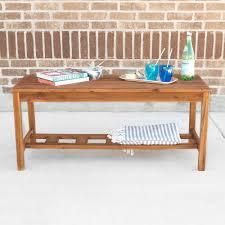 walker edison coffee table walker edison furniture company acacia wood ladder base patio coffee