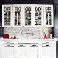 Glass Kitchen Cabinets Doors by Distinctive Kitchen Cabinets With Glass Front Doors Traditional Home