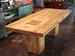 Rustic Block Acacia Wood Dining Table Rustic Dining Tables - Rustic oak kitchen table