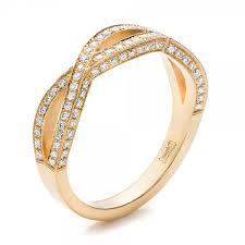 diamond wedding bands for women custom yellow gold and diamond wedding band 100854