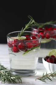 cranberry lime and rosemary white wine spritzer thanksgiving