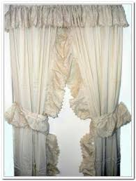 alluring priscilla curtains with attached valance and ruffled