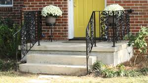 Iron Handrail For Stairs How To Repair And Paint Metal Wrought Iron Handrails Today U0027s