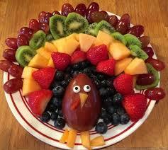 fruit turkey platter for thanksgiving crafty morning
