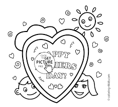 printables kids fathers coloring free