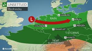 Dresden Germany Map by Rain Storms To Stifle Heat Across Germany This Week