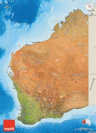 australia satellite map satellite map of western australia shaded relief outside
