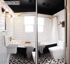 Black And White Bathroom Tile by Tulum Tile Cement Tile Shop Blog
