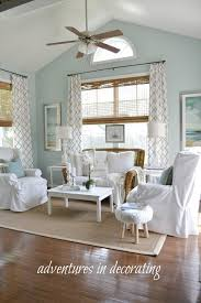 new fabric and prints in the sunroom decoration