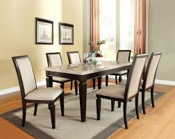 solid wood dining table sets wood dinner table set acme 7 white marble top espresso finish wood