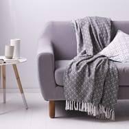 plaid canapé couvre lit jeté de canapé 100 coton tissé jacquard à micromotifs