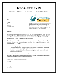 Example Nurse Cover Letter Free by Nicu Nurse Cover Letter