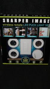amazon com sharper image wireless remote led puck light set home
