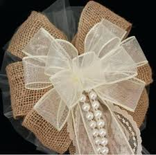 wedding bows diy burlap and lace pew bows burlap and lace wedding pew bows