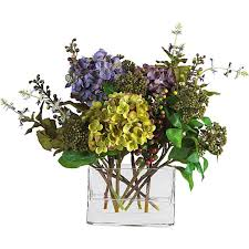 silk hydrangea mixed silk hydrangea arrangement free shipping today overstock