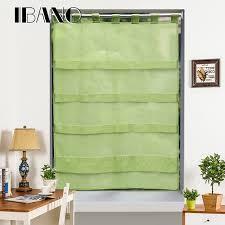 rideau voilage cuisine rideaux ombre solide couleurs corée style cravate up fenêtre