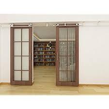 8 Ft Patio Door Amazon Com Diyhd 8ft Ceiling Mount Double Sliding Barn Wood Door