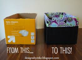 How To Make A Easy Toy Box by Mandy U0027s Krafty Exploits Lined Canvas Diaper Box
