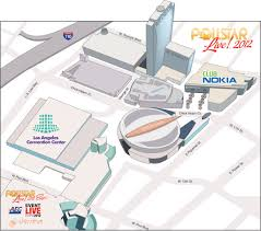 Los Angeles Convention Center Map by Pollstar Live 2012 Expo