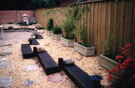 home backyard garden in japanese landscape design ideas with black