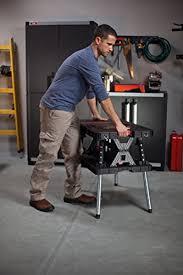Keter Folding Bench Keter Folding Compact Adjustable Workbench Sawhorse Work Table