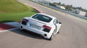 white audi r8 wallpaper 2013 audi r8 v8 coupe white rear hd wallpaper 44