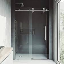 Single Frameless Shower Door Vigo Elan 72 X 74 Single Sliding Frameless Shower Door Reviews