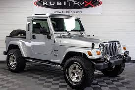 jeep wrangler grey rubitrux jeep wrangler unlimited tj truck conversions for sale