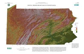 Maps Of Pa Pa Digital Shaded Relief Map Paesta