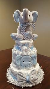 Centerpiece For Baby Shower by Baby Boy Elephant Diaper Cake Baby Shower Gift Centerpiece Diaper