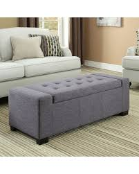 Rectangular Storage Ottoman New Savings Are Here 25 Simpli Home Laredo Slate Gray