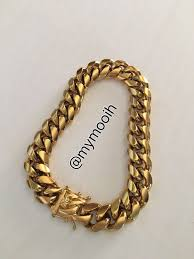 cuban chain bracelet images Cuban chain bracelet cadena cubana manilla 14k 18k stainless steel jpg