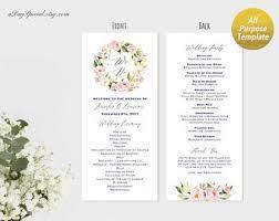 vista print wedding programs 5x7 wedding program fan style template