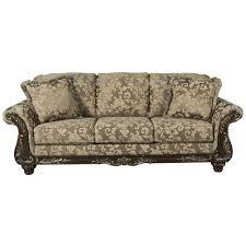 Signature Design By Ashley Irwindale Traditional Sofa With Ornate - Traditional sofa designs