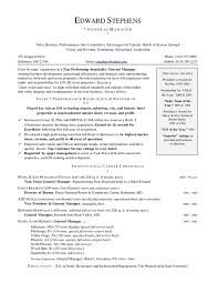 hotel general manager resume template learnhowtoloseweight net