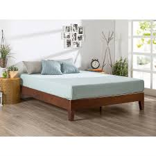 Platform Bed Frames Queen Size Modern Low Profile Solid Wood Platform Bed Frame In