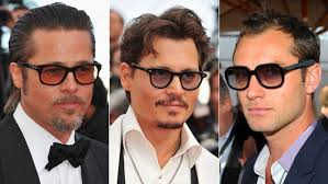 mens light tint sunglasses brad pitt johnny depp and jude law s retro style sunglasses cannes