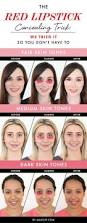 the red lipstick concealing trick we tried it so you don u0027t have