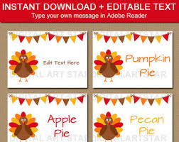 fall place cards fall wedding labels printable turkey