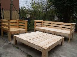 Building Outdoor Wooden Furniture by Complete Pallet Garden Set Diy Pinterest Pallet Outdoor